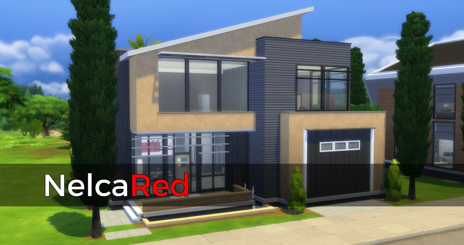 My sims 4 blog houses no cc by nelcared for Simple modern house sims 4