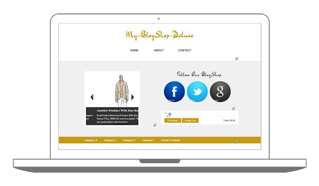 Download Blogger Shoppinc Cart Template Theme