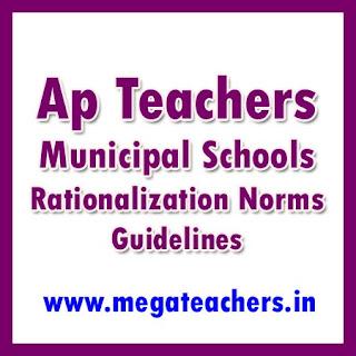 ap teachers  municipal schools rationalization norms guidelines