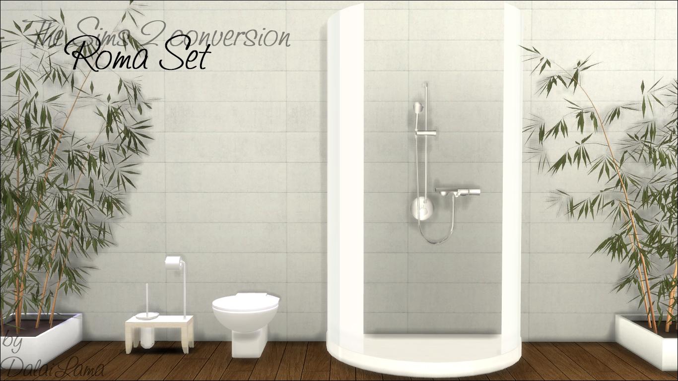 Bath Replacement Shower My Sims 4 Blog Ts2 Reflexsims Roma Bathroom Set