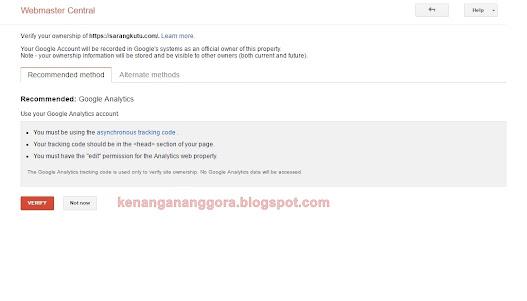Cara Menambahkan Website Kita Pada Google Search Console