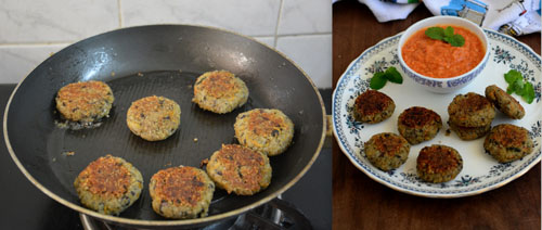 Quinoa Vegetable Black Bean Cutlet
