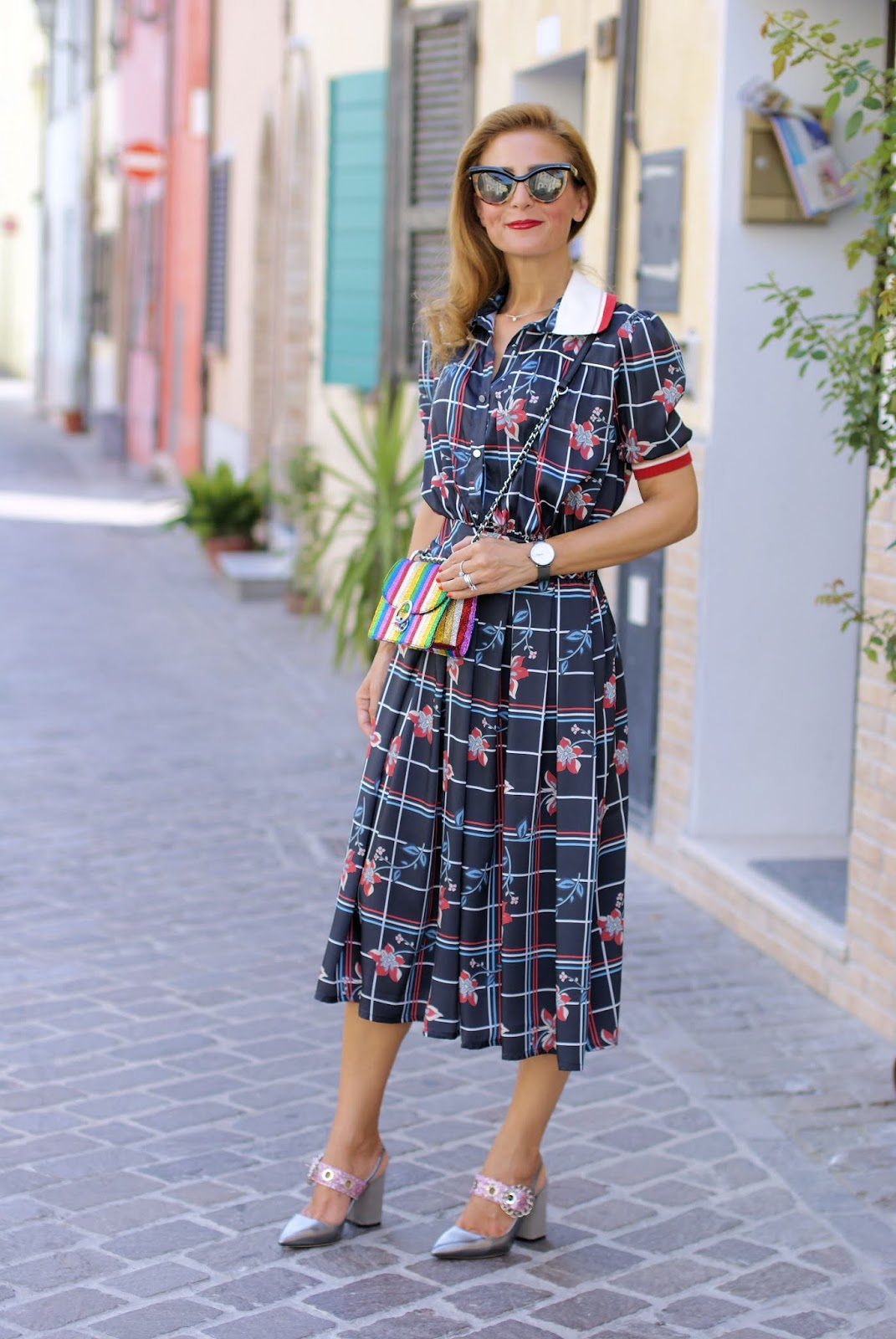 Miu Miu style white collar dress and Giancarlo Paoli shoes on Fashion and Cookies fashion blog, fashion blogger style
