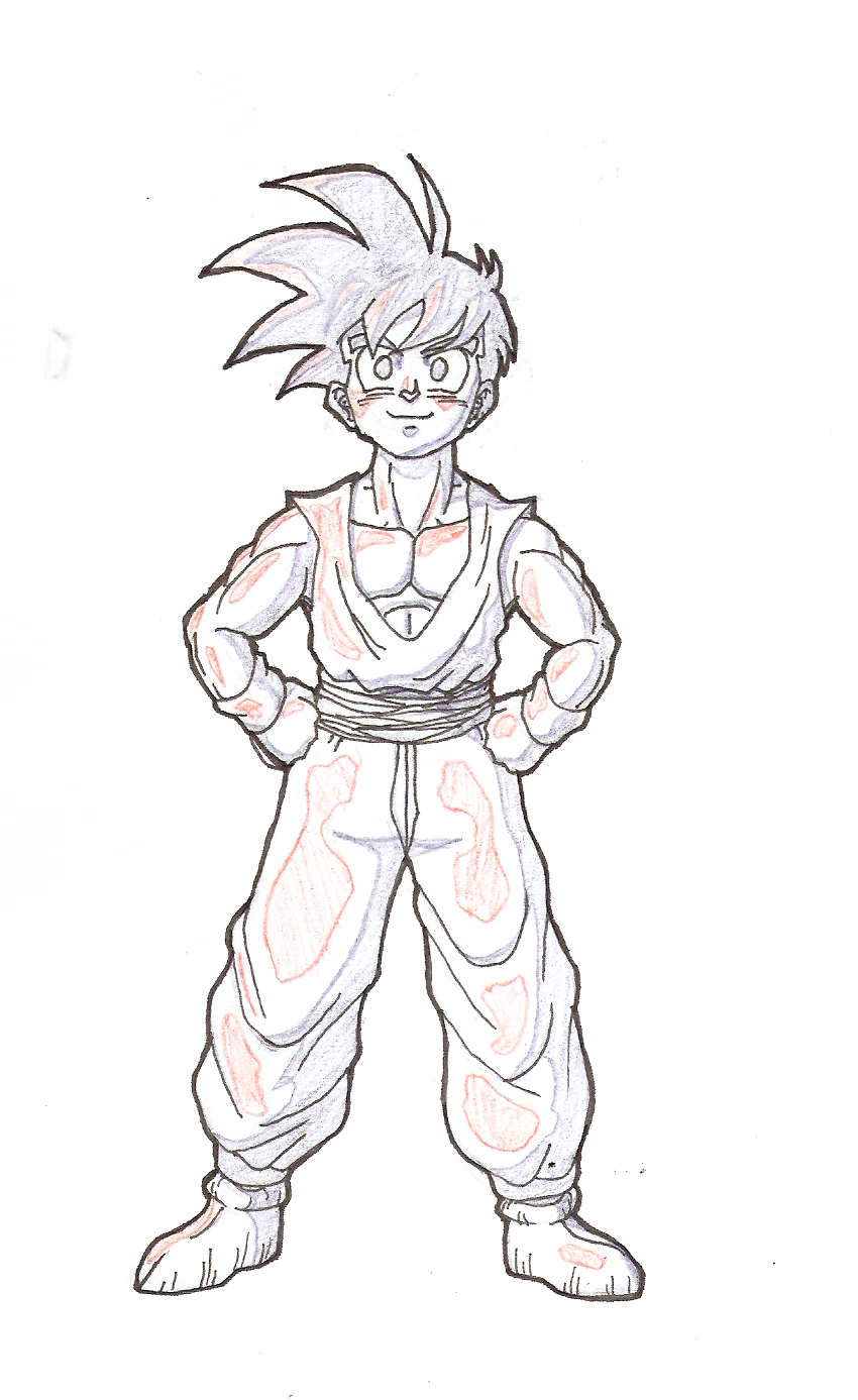 Coloring pages dBZ gohan champer in time