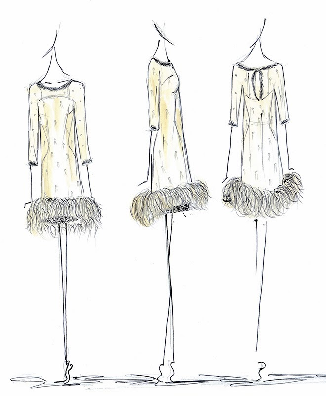 Alexandra King Vintage Inspired Clothing Collection 2014 The Sketches