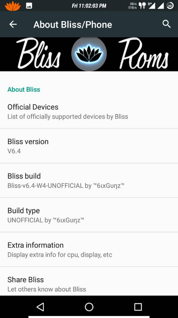Bliss V6 4 Rom For Tecno W4