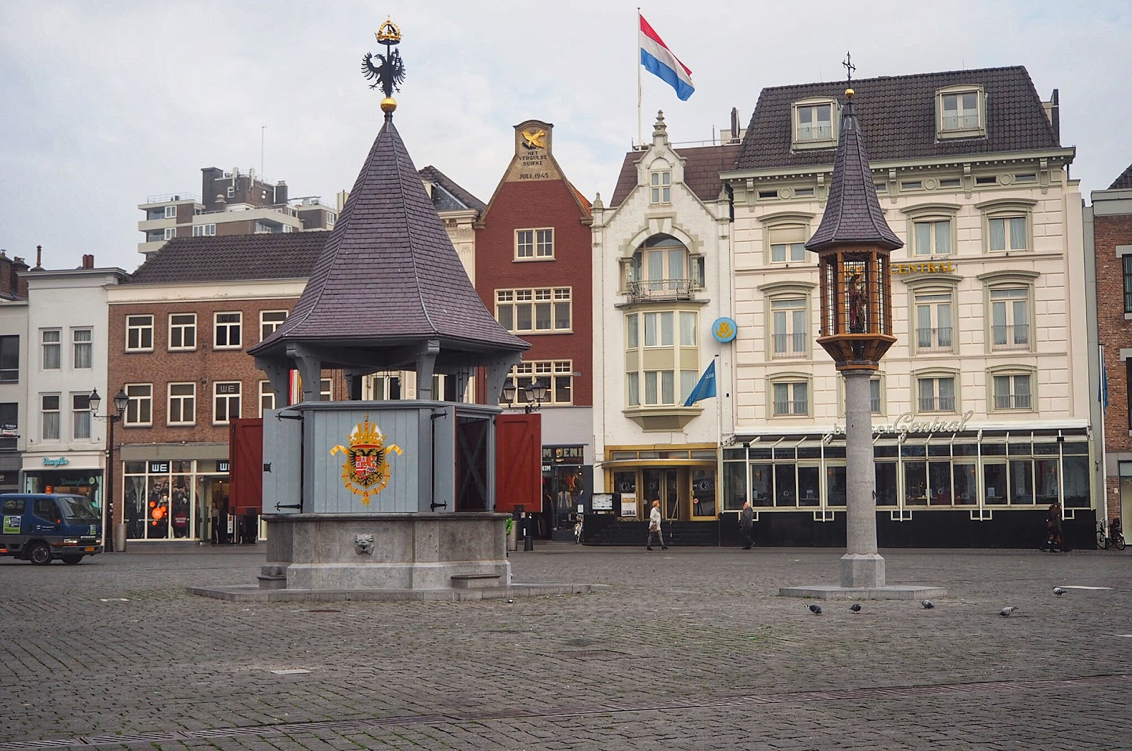 Traditional Dutch City Den Bosch market square