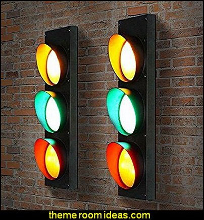 Lamp American Restaurant Cafe Children Room Lamps Creative Outdoor Industrial Wind Traffic Lights Lamp
