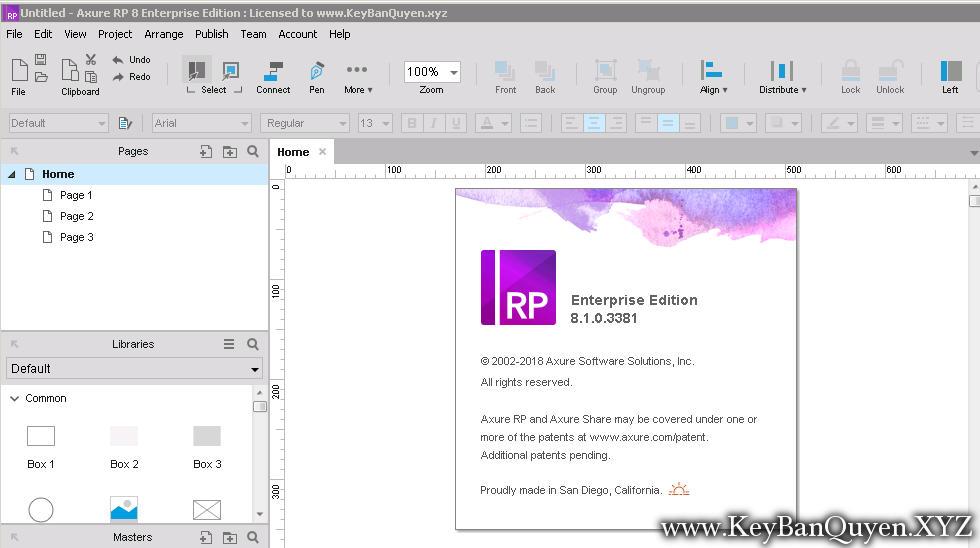 Axure RP 8.1.0.3381 Full Key Download, Tạo khung lưới trang web và giao diện nguyên mẫu nhanh chóng và chính xác
