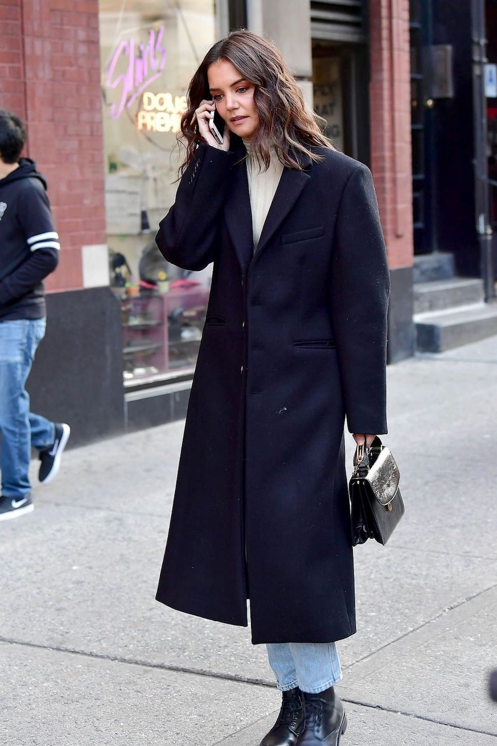 Katie Holmes Wore a Classic-Cool Fall Look We Love