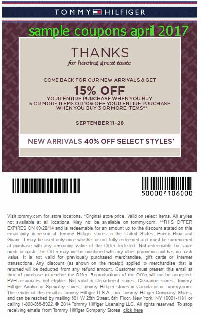 Tommie copper coupons 2018