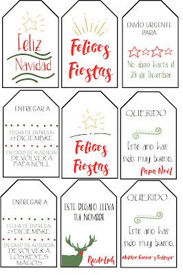 etiquetas, imprimibles, gratis, descargar, navidad,