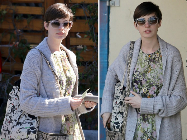 Anne Hathaway | Look |  Beverly Hills, Califórnia