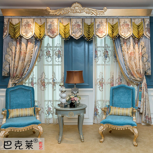 relaxing light blue curtain ideas for living with lighting