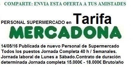 Ofertas de empleo Mercadona, Tarifa, Cádiz