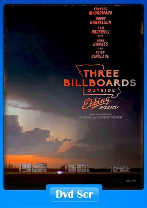Three Billboards Outside Ebbing Missouri 2017 DVDSCR 480p 300MB x264 Poster
