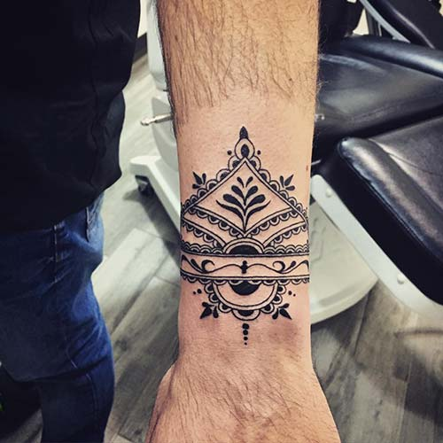 geometrik bilek dövmeleri geometric wrist tattoos 26