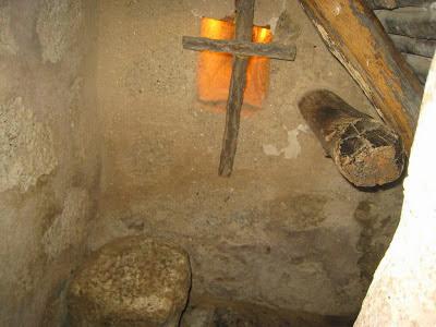 Celda, cama y cojín de Fray Pedro