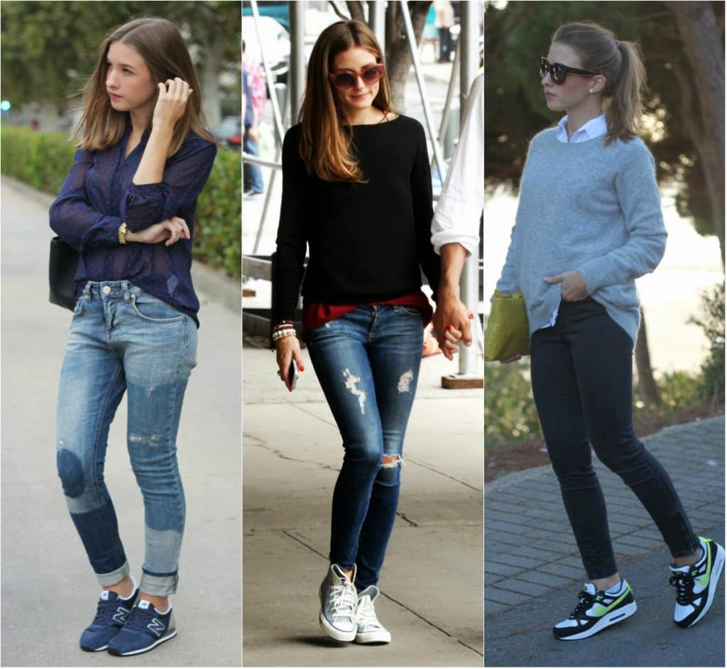 Resultado de imagem para calça jeans com tenis
