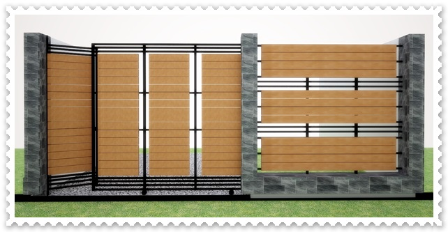 gambar pagar rumah minimalis mewah