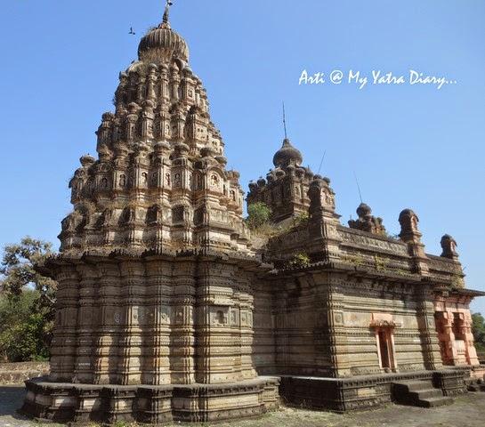 The ancient stony Sangameshwar Shiva Temple, Saswad, Pune