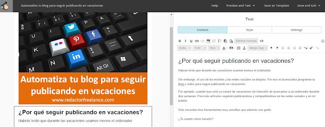 Cómo automatizar tu boletín con MailChimp