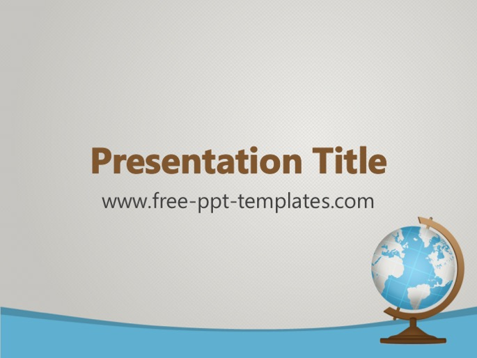 geography ppt template, Presentation templates
