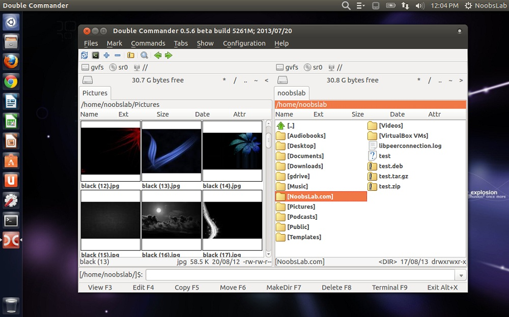Double Commander (Dual Panel File Manager) for Ubuntu/Linux Mint
