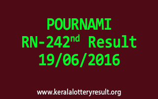 POURNAMI Lottery RN 242 Results 19-6-2016