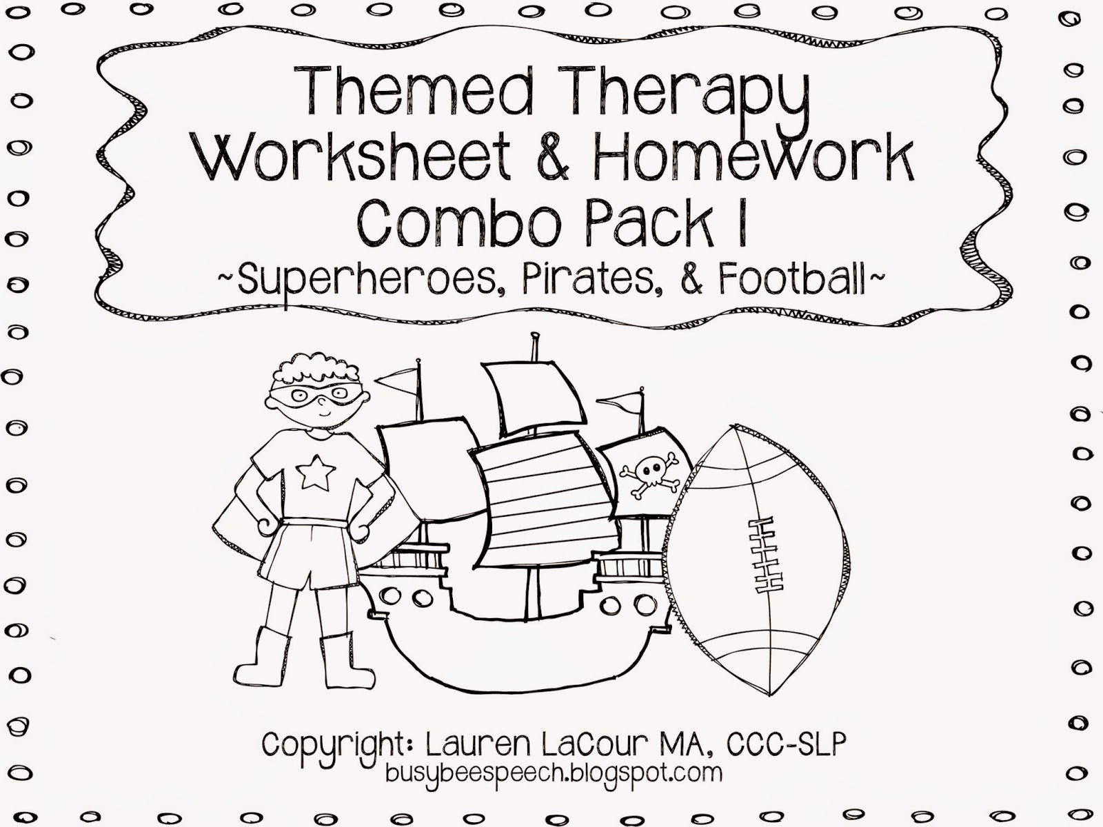 Busy Bee Speech Themed Therapy Worksheet Combo