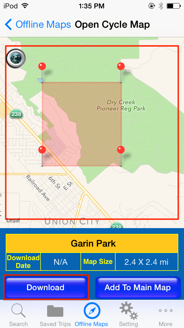 GPS Hiker for iOS (登山客): How to create an offline map