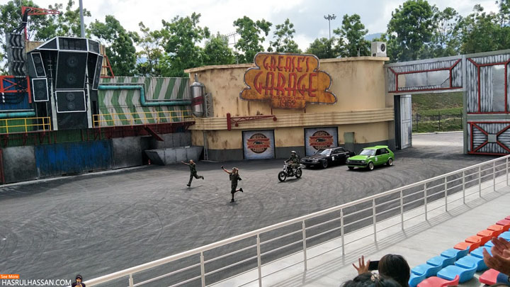 Aksi Stunt Legends Movie Animation Park Studios Perak