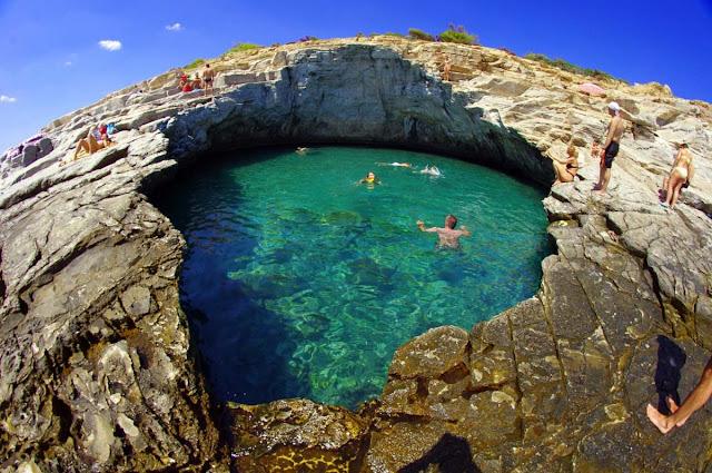 Lagoa Giola - ilha de Thassos – Grécia