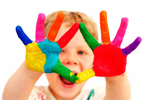 Happy holi cute child wallpaprs