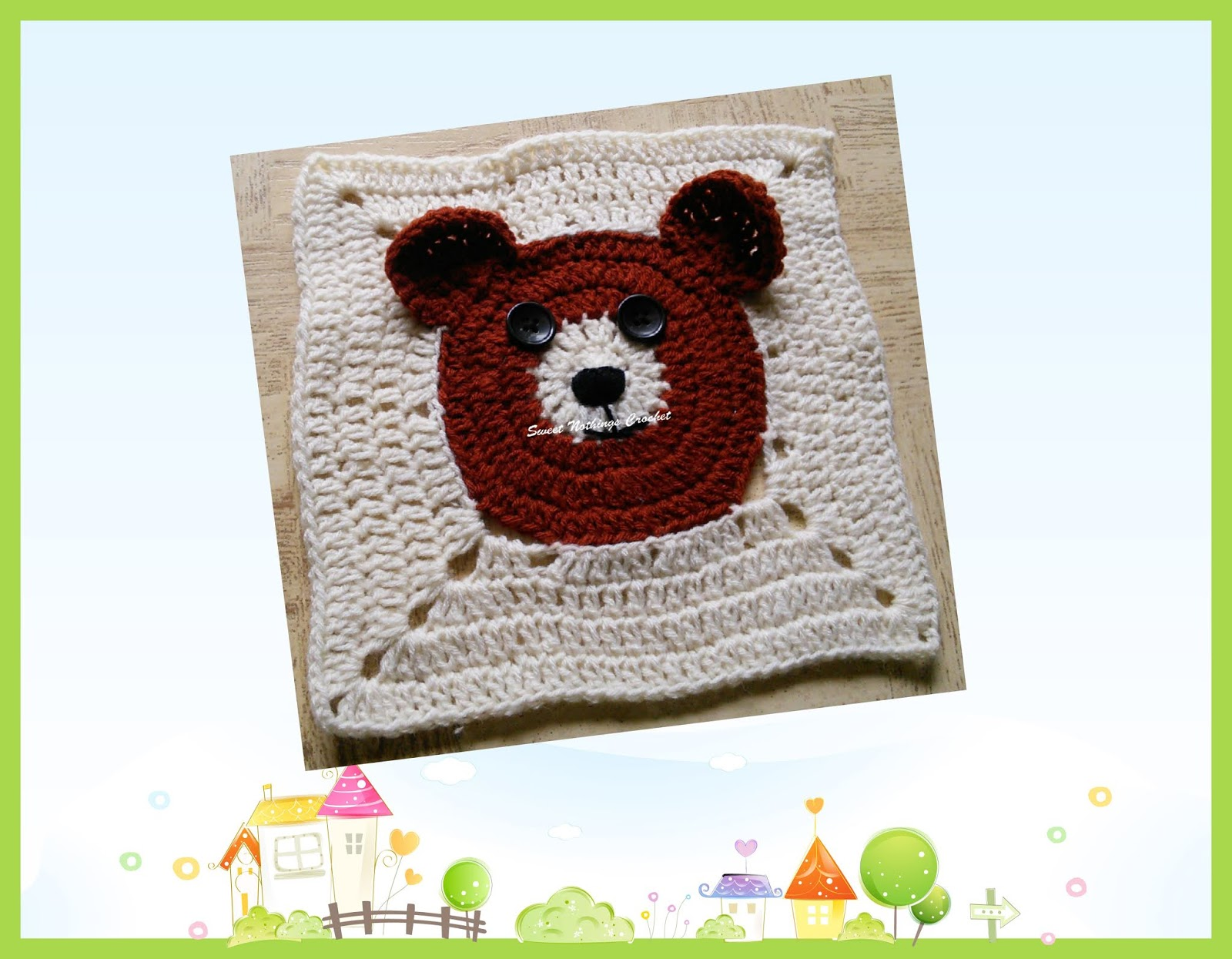 Sweet Nothings Crochet: ADORABLE TEDDY BEAR : GRANNY SQUARE IN THE ...
