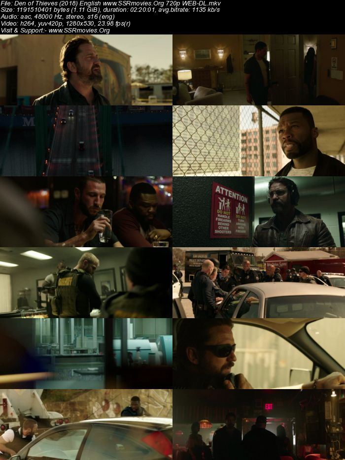 Den of Thieves (2018) English 720p WEB-DL