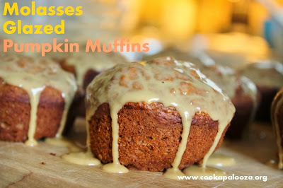 Molasses Glazed Pumpkin Muffins