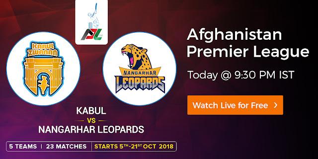Kabul vs Nangarhar Leopards - APL 2018