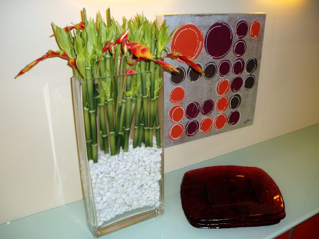Vases of Glass With Stones 3