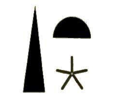 trinità egizia, geroglifico