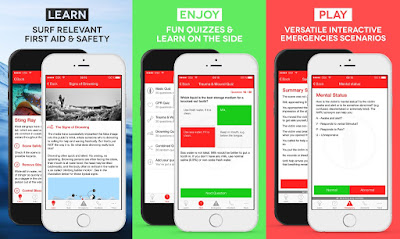 Printscreens Surf First Aid App