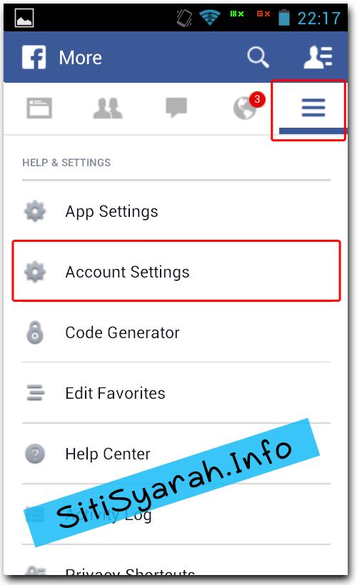 Blokir Teman FB di Android