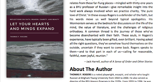 "Book Review: ""Let Your Hearts and Minds Expand: Reflections on Faith, Reason, Charity, and Beauty"""