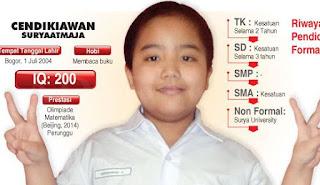 Cendikiawan Suryaatmadja : Sosok Bocah Jenius Indonesia yang gegerkan dunia