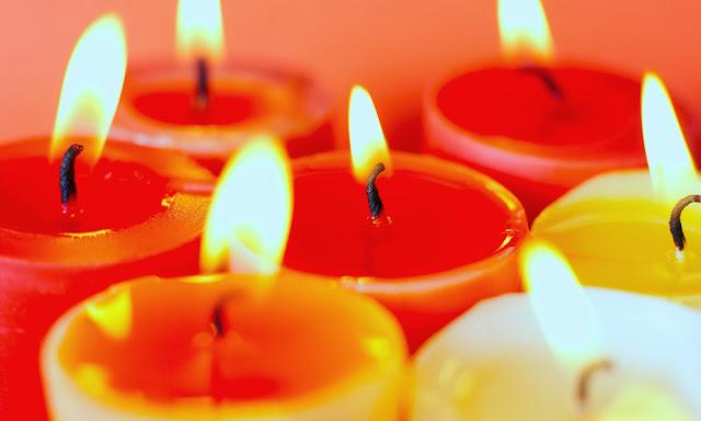 Kerst afbeelding met kaarsen