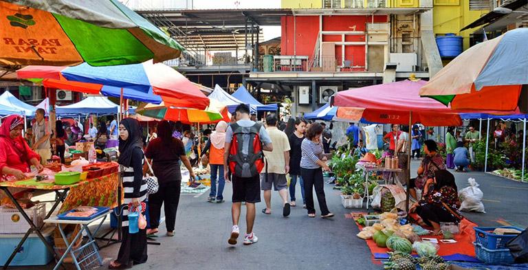 Asia Kinabalu City Gaya Street Tourist Attraction
