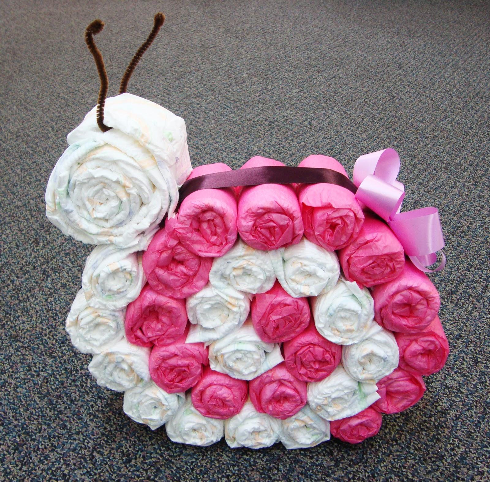 snail diaper cake. Black Bedroom Furniture Sets. Home Design Ideas