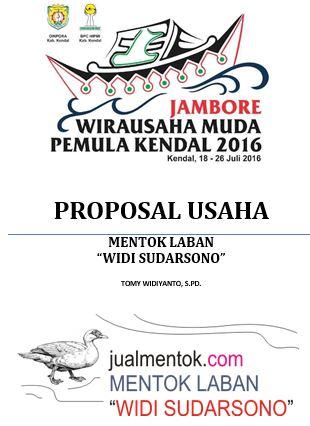 Proposal Usaha Jambore Wirausaha Pemula Kab Kendal 2016 Learning