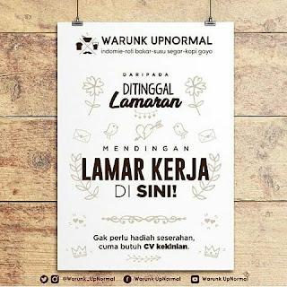 Karir Lowongan Kerja Warunk Upnormal Bandung Terbaru 2019