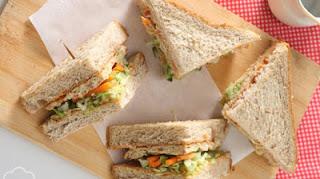 Sarapan Yuk! Bikin Sandwich Gandum Kornet, Kenyangnya Lebih Lama